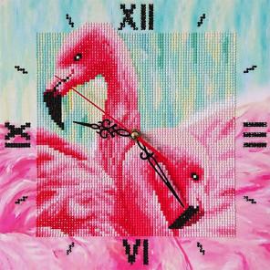 Фламинго Алмазные на подрамнике с частичной выкладкой Color Kit 7303015