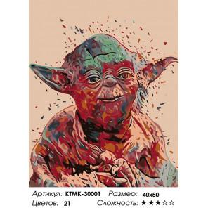 Количество цветов и сложность Магистр Раскраска картина по номерам на холсте KTMK-30001