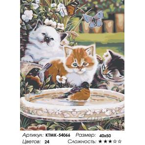 Количество цветов и сложность Веселая прогулка в саду Раскраска картина по номерам на холсте KTMK-54066