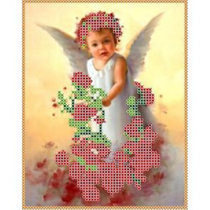 Ангел в розах Набор для вышивки бисером Каролинка