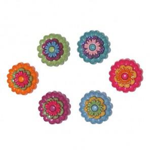 Цветочный бум Пуговицы декоративные Jesse James & Co