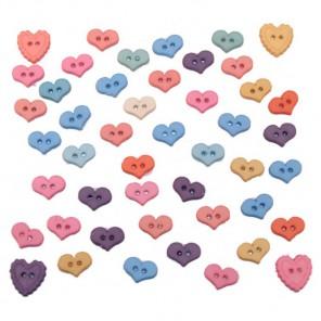 Разноцветные сердца Пуговицы декоративные Jesse James & Co