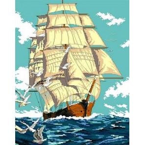 Попутный ветер Канва с рисунком для вышивки Каролинка