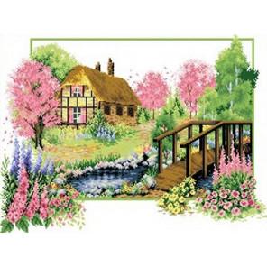 Весеннее цветение Канва с рисунком для вышивки Каролинка