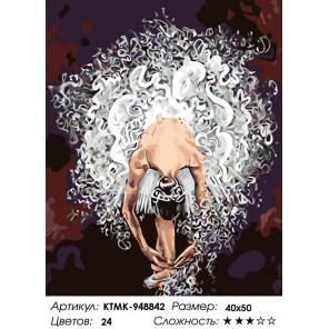 Количество цветов и сложность Воздушная балерина Раскраска картина по номерам на холсте KTMK-948842