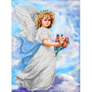Ангел в облаках Канва с рисунком для вышивки бисером