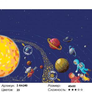 Количество цветов и сложность На орбите Раскраска картина по номерам на холсте Z-RA240