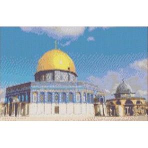 Мечеть Купол Скалы Канва с рисунком для вышивки бисером