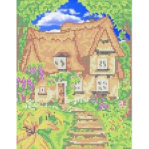 Лесной домик Канва с рисунком для вышивки бисером