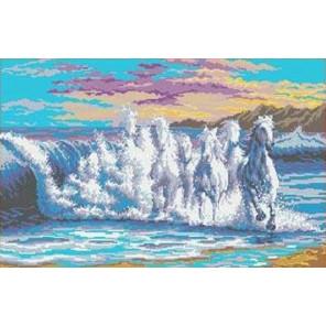 Бегущая волна Канва с рисунком для вышивки бисером