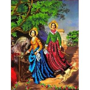 Две сестры (К. Брюллов) Канва с рисунком для вышивки бисером