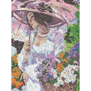 Летняя прогулка Канва с рисунком для вышивки бисером