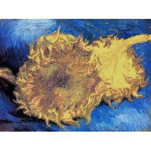 Ван Гог. Два срезанных подсолнуха Канва с рисунком для вышивки бисером