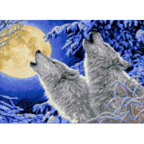Лунная соната Канва с рисунком для вышивки Каролинка