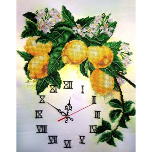 Часы с лимонами Набор для вышивки бисером часов FeDi