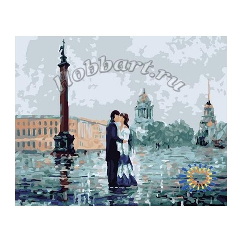 На Дворцовой площади Раскраска по номерам на холсте ...