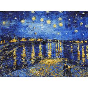 Звездная ночь над Роной Раскраска картина по номерам на холсте Z-EX5348