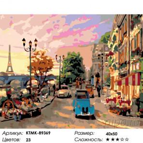Количество цветов и сложность Летний Париж Раскраска по номерам на холсте Живопись по номерам KTMK-89369