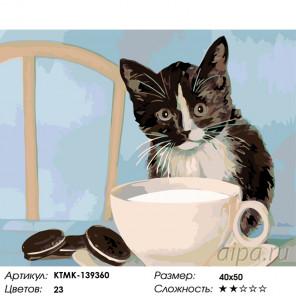Количество цветов и сложность Завтрак с молоком Раскраска по номерам на холсте Живопись по номерам KTMK-139360