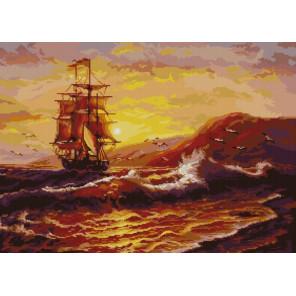 На морских просторах Канва с рисунком для вышивки бисером 1246