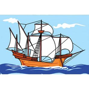 Кораблик Раскраска картина по номерам PA182