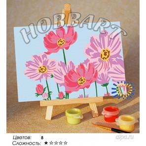 Количество цветов и сложность Среди цветов Раскраска по номерам на холсте Hobbart M1015024-Lite