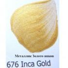 676 Золото Инков Металлик Акриловая краска FolkArt Plaid