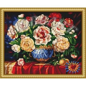 Пионов цвет Раскраска по номерам акриловыми красками на холсте Hobbart
