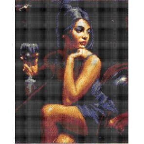 Девушка с бокалом Канва с рисунком для вышивки Каролинка КК 049