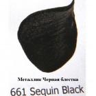 661 Черная блестка Металлик Акриловая краска FolkArt Plaid