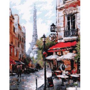 Парижское кафе Набор для вышивания Палитра