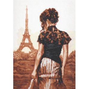 Прогулка по Парижу Набор для вышивания Палитра