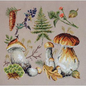 Белые грибы Набор для вышивания Марья Искусница