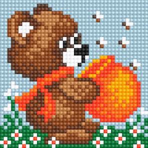 Медвежонок с медом Алмазная вышивка мозаика Алмазное Хобби