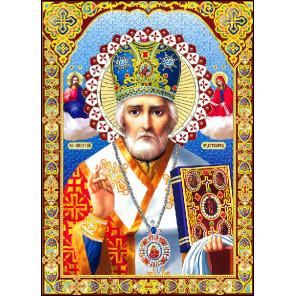 Икона Святого Николая Алмазная вышивка мозаика Алмазное Хобби