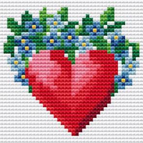 Сердечко Алмазная вышивка мозаика Алмазное Хобби