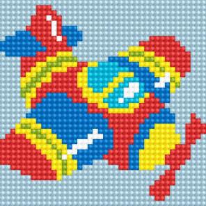 Самолетик Алмазная вышивка мозаика Алмазное Хобби