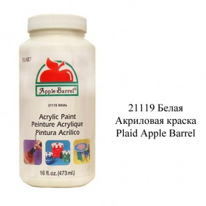 21119 Белая 473мл Акриловая краска Apple Barrel Plaid