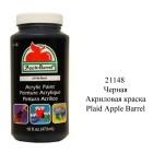 21148 Черная 473мл Акриловая краска Apple Barrel Plaid