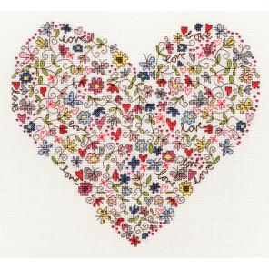 Любимое сердце Набор для вышивания Bothy Threads XKA1