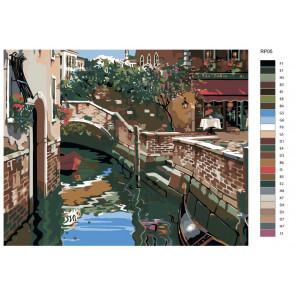 Раскладка Венецианские огни (репродукция Роберта Пежмана) Раскраска по номерам на холсте Живопись по номерам