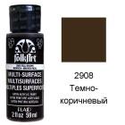 2908 Тёмно-коричневый Для любой поверхности Сатиновая акриловая краска Multi-Surface Folkart Plaid