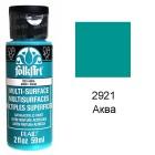 2921 Аква Для любой поверхности Сатиновая акриловая краска Multi-Surface Folkart Plaid