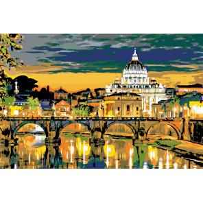 Вечер в Риме Раскраска по номерам на холсте Живопись по номерам GP09