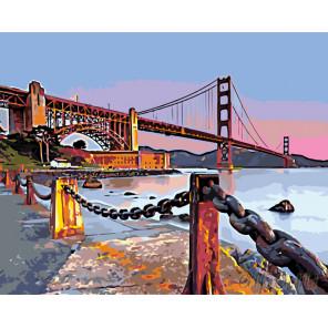 Мост Голден Гейт. Сан-Франциско Раскраска по номерам на холсте Живопись по номерам ZGENA101100244