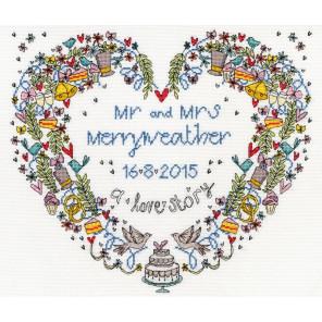 Свадебное сердце Набор для вышивания Bothy Threads XWS10