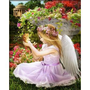 Ангел в саду Алмазная вышивка мозаика АЖ-1781