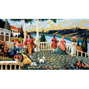 На открытой веранде Канва жесткая с рисунком для вышивки Gobelin L