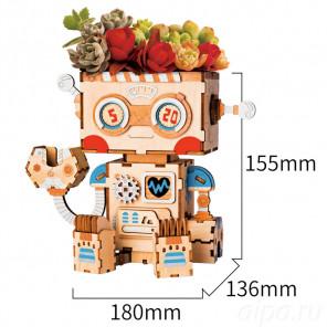 Робот Цветочный горшок 3Д пазл FT761