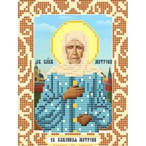 Святая Матрона Ткань для вышивания с нанесенным рисунком Божья коровка 0072